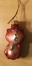 Collectible Old World Glass Fox Christmas Ornament