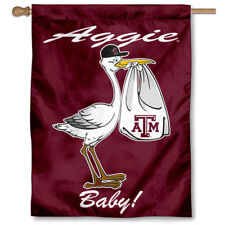 Texas A&M University New Baby Born Decorative House Flag