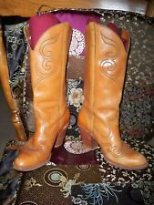 Acme-Dingo Vintage Inlay Cowboy Boots Size 6 M Leather Cowboy BootS Nice Sexy!