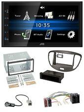 JVC USB 2DIN Bluetooth MP3 AUX Autoradio für Hyundai i10 2008-13 dunkelsilber