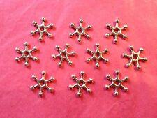 TIBETAN SILVER Snowflake grandi Distanziatore Perline 10 per pacco
