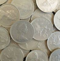 BULK OLD STYLE 10P COINS CHOOSE THE AMOUNT FROM 10 TO 250 OLD TEN PENCE COINS