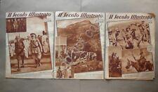 Il Secolo Illustrato N.47-48-50 1935 Africa Orientale Italiana Colonie 3 Numeri