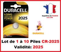 Lot de 1 à 10 Pile CR-2025 / DL-2025 DURACELL bouton Lithium 3V DLC 2026