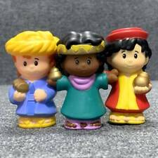 3x Fisher Price Little People from Children's Nativity Set Joseph Mary Jesus toy