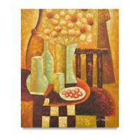 NY Art - Eclectic Art Livingroom Scene 20x24 Original Oil Painting - On Sale!!
