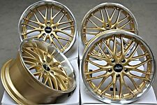 "18"" ALLOY WHEELS CRUIZE 190 GD GOLD POLISHED DEEP DISH 5X120 18 INCH ALLOYS"