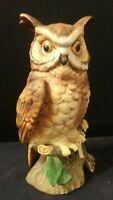 """Vintage Lefton Marked Porcelain Owl Figurine #02727 6.75"""" Made In Japan"""