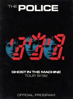 THE POLICE 1981-1982 GHOST IN THE MACHINE TOUR CONCERT PROGRAM BOOK-STING-EX/NMT