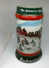 New listing Budweiser 1991 The Season's Best Christmas Clydesdales Beer Stien