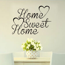 Family Quote Wall Sticker Love HOME SWEET HOME HEART Vinyl Decal For Living Room