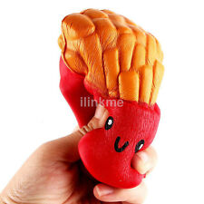 12CM Rare Squishies Kawaii French Fries Jumbo Squishy Phone Straps for Apple CA