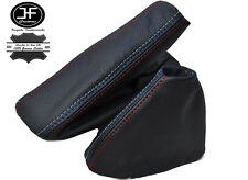FITS BMW M3 E46 SMG GEAR STICK HANDBRAKE GAITER REAL BLACK LEATHER M STITCHING