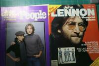 John Lennon People Magazine Dec. 1980 & Memorial Magazine 1981 Color Photos