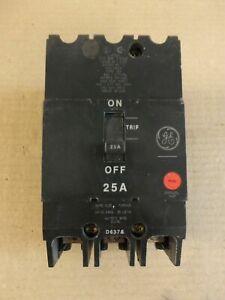 NEW GENERAL ELECTRIC GE TEY TEY325 3 POLE 480/277V 25 AMP CIRCUIT BREAKER
