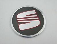 1 Stück Seat Alu Felgen Aufkleber Nabendeckel Logo Emblem 64 mm