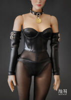 1/6 Black Tight Corsage Set Female Clothing F 12'' tbleague phicen JODOLL Figure