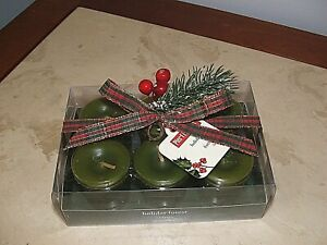 NEW IN BOXED SET Pier 1 Imports Christmas Holiday Forest Votive Candles