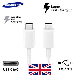Genuine Super Fast Charging Type C to Type C USB Samsung Galaxy Note 10 S10 S20