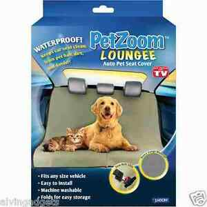 PetZoom Loungee Car Seat Pet Cover For Animals Cats & Dogs(Black)