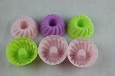 Silicone Bundt Savarin Fluted Ring Muffin Case Cup Cake Moulds x6 NonStick Bake