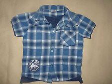 Chemise bleue carreaux + t-shirt intégré 2 en 1 Cherokee bébé garçon 18-24 mois