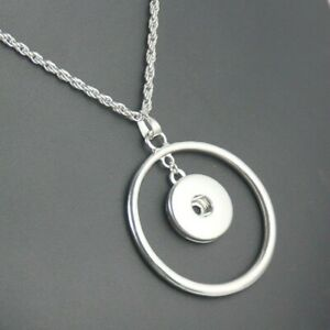 Snap Jewelry Necklace Crystal Snap Button Necklace for women