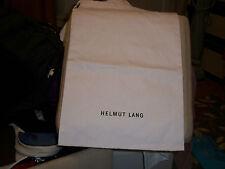 Huge Helmut Lang Linen Drawstring Dust Bag 14x 26 White with Black logo