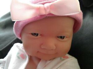 """~ Berenguer ~ Newborn Infant  Baby GIRL Doll 14"""" Blue Eyes~"""