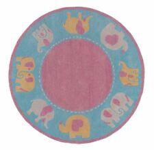 Elephanta Pink Color High & Low Hand Tufted Woolen Area Rug