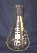 Erlenmeyerkolben 500 ml, Bördelrand, Rasotherm, weiß graduiert, Enghals
