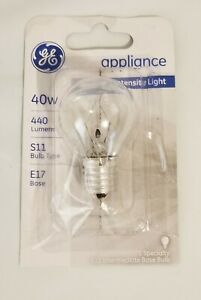 GE Appliance 40w Bulb High Intensity E17 , S11 Refrigerator