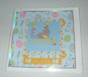 Children's Easter Card - Chick / Rabbit - Handmade with Envelope - no words (60)