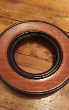 minature antique style round  mahogany with ebonised rim frame