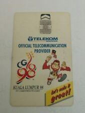 Malaysia Orang Utan Commonwealth Games Phone Card with Sukom 98 Logo 电话卡