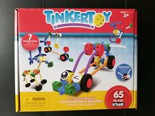 New Tinker Toy 65 Piece On The Go Set Construction Building