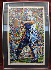 Paul Blaine Henry Signed  Roger Staubach serigraph Framed Cowboys Football