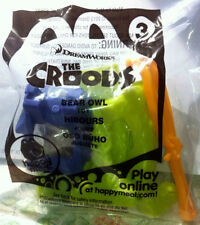 McDonalds Happy Meal Toy - #3 The CROODS -Bear Owl toy. 2013