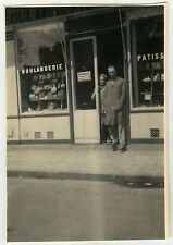 PHOTO ANCIENNE - HOMME BOULANGERIE COMMERÇANT - MAN BAKERY JOB -Vintage Snapshot