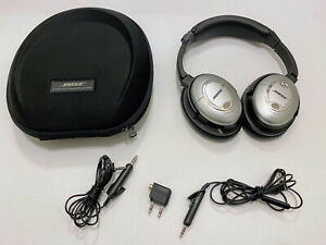 Bose QuietComfort 15 Headband Headphones - Silver/Black with Carry Case