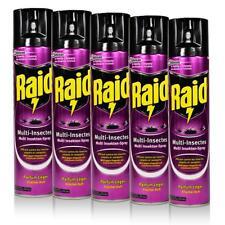 5x Raid Multi Insekten-Spray Frischer Duft 400 ml - Wirkt sicher und schnell