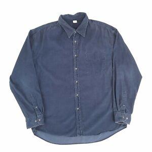 Vintage GAP Corduroy Shirt Navy XL Long Sleeve