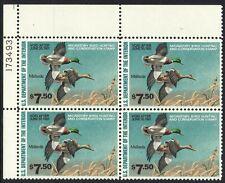 1980 U.S Federal Duck plate number 173493 Mnh Sc# Rw47 Mallard Ducks F.V $30.00