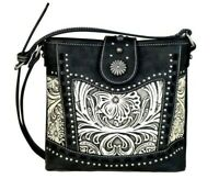 Montana West Trinity Ranch Purse Tooled Leather Western Cowgirl Crossbody Bag