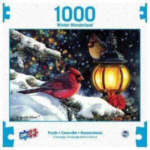 SURE LOX 1000 PIECE PUZZLE WINTER WONDERLAND WINTER LIGHTS  68.58CM X 48.26CM