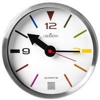 Small wall clock - CHERMOND - metal case , white dial , Ø 20 cm