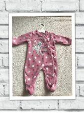 Girls Babygrows 0-3 Months - Pretty Disney Bambi Fleece Baby Grow Sleepsuit -
