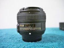 Nikon NIKKOR AF-S 50mm f 1.8G Lens, Excellent Condition, US lens w/Extras