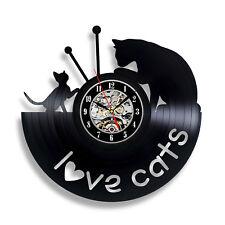 Kittens Cats Decor Home Design Animals Gift Birthdat Vinyl Record Clock Home 529