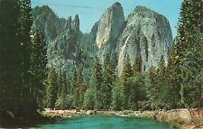 Postcard Cathedral Rocks Yosemite National Park California